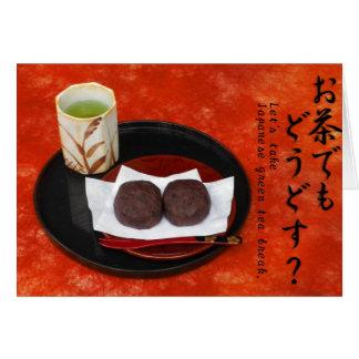 Tomemos la rotura de té verde japonesa. - Otoño Tarjeta De Felicitación