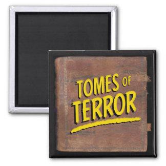 """Tomes of Terror"" 1946 Logo Square Fridge Magnet"