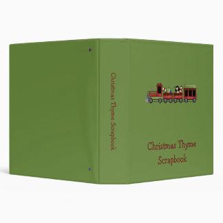 """Tomillo del navidad · Tren del juguete Carpeta 1 1/2"""""""
