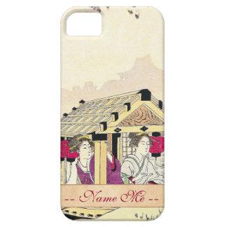 Tomioka Eisen en señoras de placer de un japonés d iPhone 5 Case-Mate Protectores