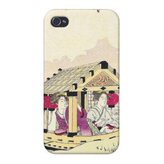Tomioka Eisen en señoras de placer de un japonés d iPhone 4 Carcasa