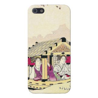 Tomioka Eisen en señoras de placer de un japonés d iPhone 5 Cárcasas