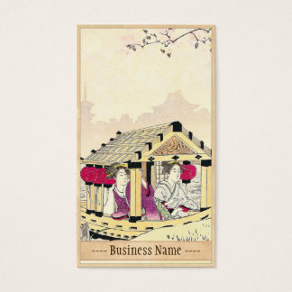 Tomioka Eisen in a pleasure boat japanese ladies Business Card