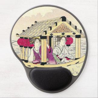 Tomioka Eisen in a pleasure boat japanese ladies Gel Mouse Pad
