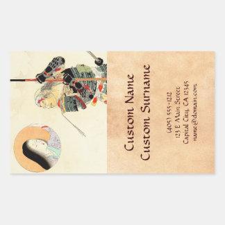 Tomioka Eisen Samurai Warrior Classic japanese art Rectangular Sticker