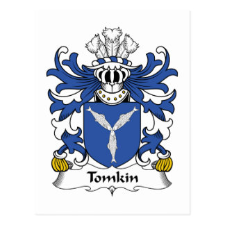 Tomkin Family Crest Postcard