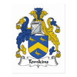 Tomkins Family Crest Postcard