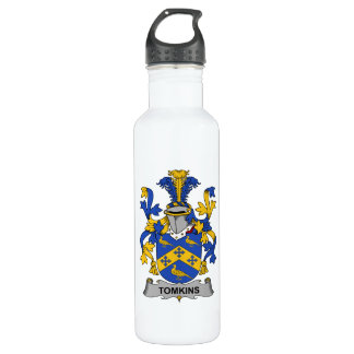 Tomkins Family Crest Stainless Steel Water Bottle