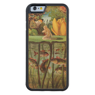 Tommelise very desolate on the water lily leaf, in carved maple iPhone 6 bumper case