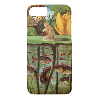 Tommelise very desolate on the water lily leaf, in iPhone 7 case