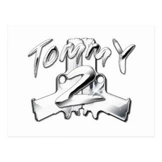 Tommy 2 Gunz Postcard