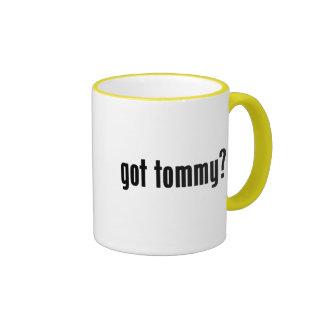 ¿tommy conseguido? tazas de café