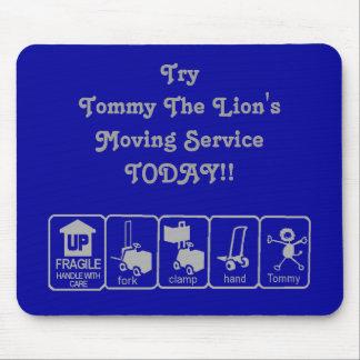 Tommy el león MousePad en azul y gris Tapetes De Ratón