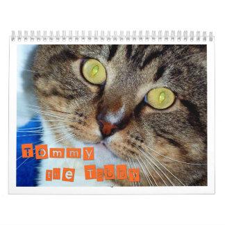 Tommy el Tabby Calendario