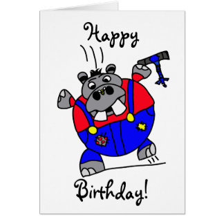 Tommy Hippo birthday card