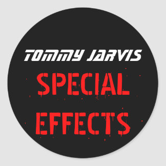 Tommy Jarvis Classic Round Sticker
