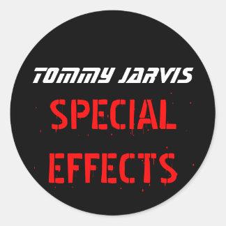 Tommy Jarvis Pegatina Redonda