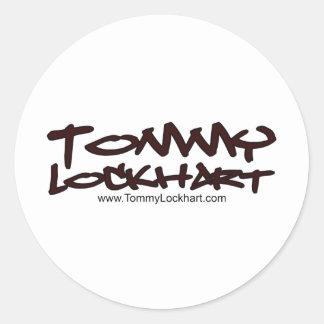 Tommy Lockhart Pegatina Redonda