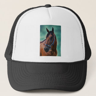 Tommy Standardbred Horse Art Trucker Hat