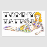 Tommy Tattoo Pin-Up Sticker