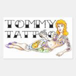 Tommy Tattoo Pin Up Sticker