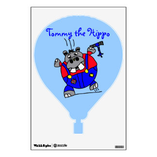 Tommy the Hippo Wall Decal