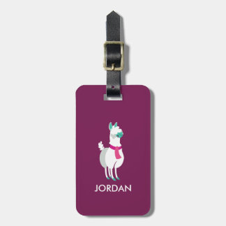 Tommy the Llama Bag Tag