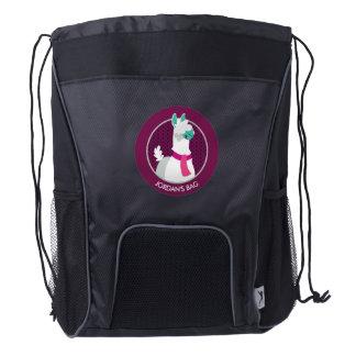 Tommy the Llama Drawstring Backpack