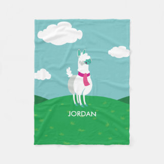 Tommy the Llama Fleece Blanket