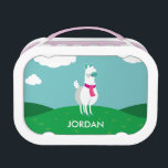 """Tommy the Llama Lunch Box<br><div class=""""desc"""">Tommy the llama, occasionally known as &quot;Perfect Tommy, &quot; might not have the sharpest mind, but his look is sharp indeed! Tommy can&#39;t help but look great, no matter what he wears. An Aquarius and a dreamer, he&#39;s laidback, a little lazy, but a dear friend to all. We&#39;d call him...</div>"""