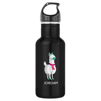 Tommy the Llama Stainless Steel Water Bottle