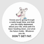 Tommy The Terrible Kangaroo 3 Round Stickers