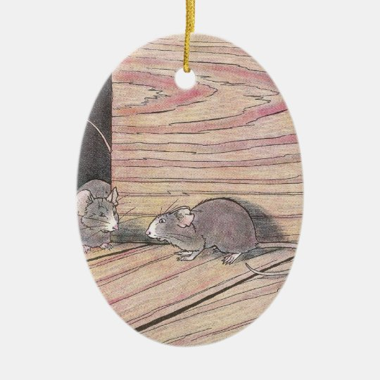 Tommy Tittle-Mouse Ceramic Ornament
