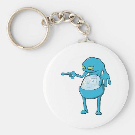 tommy tummy inside lumpy monster blue key chain