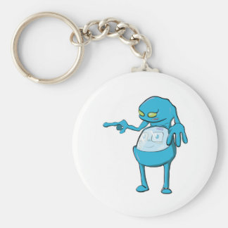 tommy tummy inside lumpy monster blue basic round button keychain