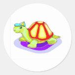 Tommy Turtle Classic Round Sticker