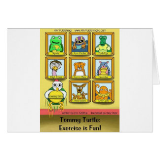 Tommy Turtle: Exercise is Fun!  Back cover Cards