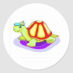 Tommy Turtle Round Stickers