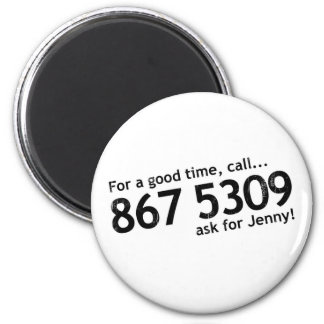 Tommy Tutone 867 5309 2 Inch Round Magnet