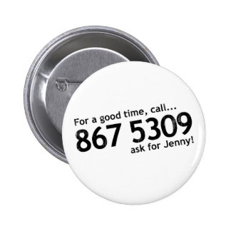Tommy Tutone 867 5309 Pinback Button