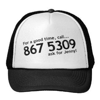 Tommy Tutone 867 5309 hat