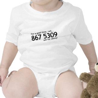 Tommy Tutone 867 5309 Baby Bodysuits