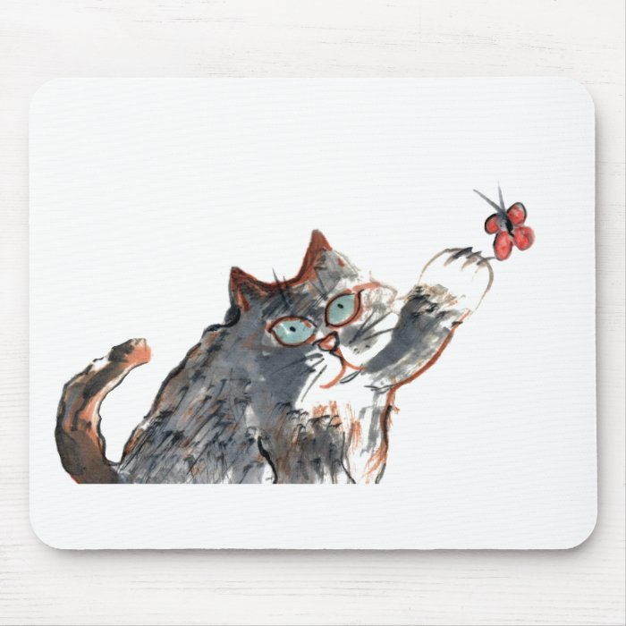 Tommy's Butterfy Tag Mouse Pad