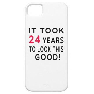 Tomó a 24 años diseños del cumpleaños iPhone 5 protectores