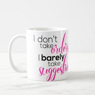 Tomo apenas la taza de café de las sugerencias