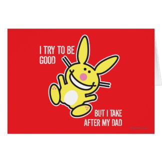 Tomo después de mi papá tarjeta de felicitación