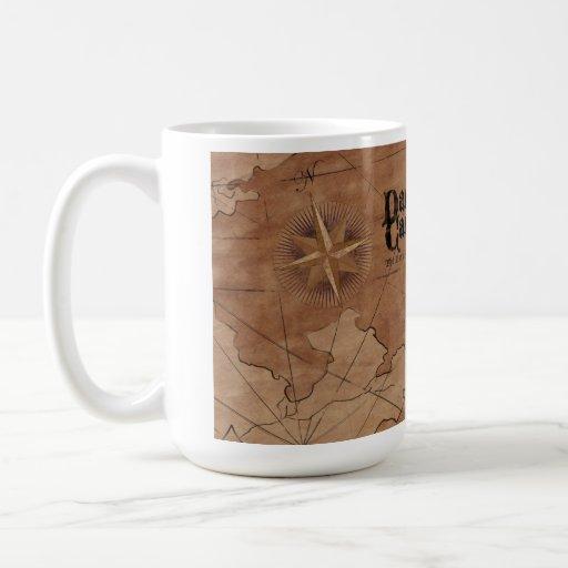 Tomo mi oscuridad de la cartografía tazas de café