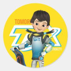 Round Sticker with Tomorrowland Transit Authority Logo design