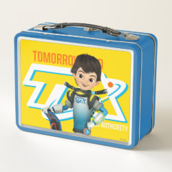 Metal Lunch Box with Tomorrowland Transit Authority Logo design