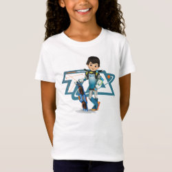Girls' Fine Jersey T-Shirt with Tomorrowland Transit Authority Logo design